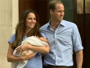 Primera apariencia pública de príncipe George