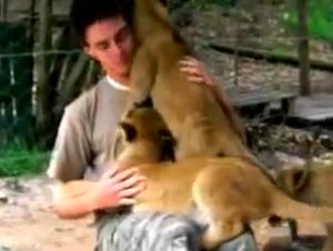 Estos Cachorros de León Se Despiden de Su Entrenador con Algo Precioso -¡GUAU!