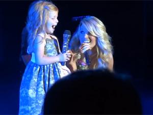 Carrie Underwood Invita a una niña al escenario – ¡y hace sus sueños realidad!