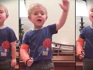 """La pequeña actuación al estilo """"Broadway"""" de este pequeñín lo hizo una estrella instantánea del internet!"""