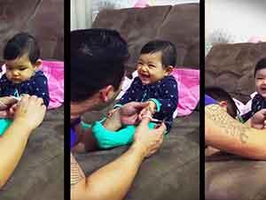 La broma de esta bebita a su papá te hará morir de la risa!