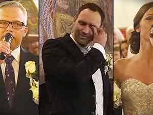 La novia y su padre cantan hacia el altar! Muy conmovedor