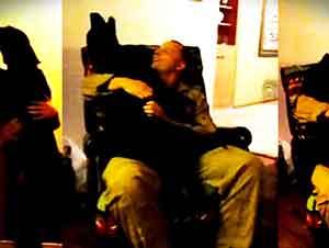 Tierna cachorrita llora de felicidad al ver a su papá finalmente regresar a casa!