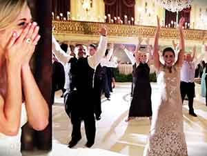 El novio y la novia acaban de recibir una sorpresa en su boda! Wow!