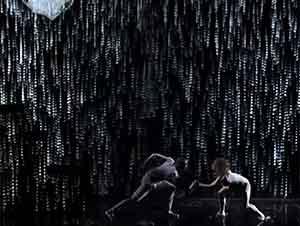 Increible baile con luces, música y lluvia dentro de un auditorio!