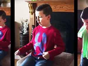 Niño recibe sorpresa de que va a ser hermano mayor!