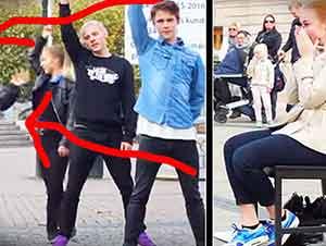 "Sorpresa de Flash Mob al estilo de ""La Onda Vaselina"""