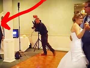 El novio sorprendió a todo el mundo cuando le cantó a su esposa mientras ella bailaba con su padre.