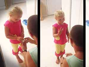 El le pregunto a ella si podía ser su Padre… la reacción de la niña no tiene precio!