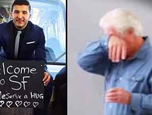 Le dan la bienvenida de una manera muy especial a todos los pasajeros del aeropuerto