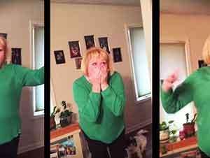 Esta abuela acaba de recibir la sorpresa de su vida!