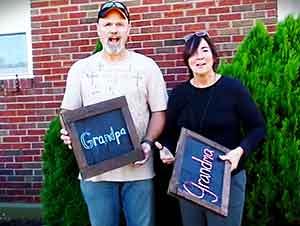 Anuncio sorpresa a los futuros abuelos…