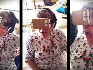 Primer experiencia con la realidad virtual de la abuelita.