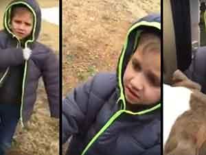 Niño Se Encuentra Con Su Perro Perdido