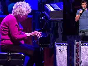 """Sueño De Una Abuela Se Hace Realidad Tocar """"How Great Thou Art"""" En El Piano"""