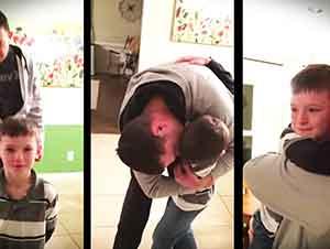 Marinero Sorprende A Su Hijo En Emotiva Reunión
