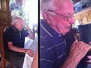 Después De 63 Años De Matrimonio Él Perdió A Su Esposa, Pero Su Familia Le Dió Un Gran Apoyo