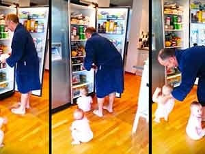 Este Papá Tiene Que Organizarse Muy Bien Para Poder Preparar El Desayuno