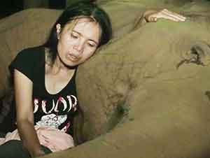 Elefante Bebé Se Duerme Después De Que Esta Señora Lo Arrulla Con Una Canción