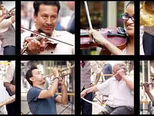 100 Extraños Tocan una Nota A La Vez Y Juntos Crean Una Canción