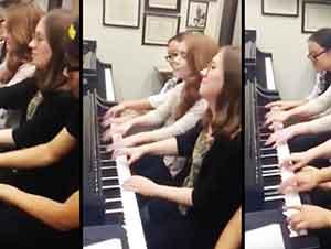Cuatro Pianistas Y Un Piano