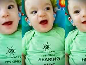 Bebito Puede Escuchar La Voz De Su Mamá Por Primera Vez