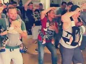 Clase de Baile Entre Papás E Hjos Recién Nacidos
